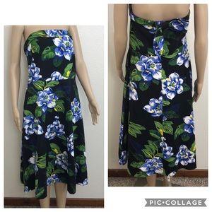 2/$39 Banana Republic Floral Print Strapless Dress